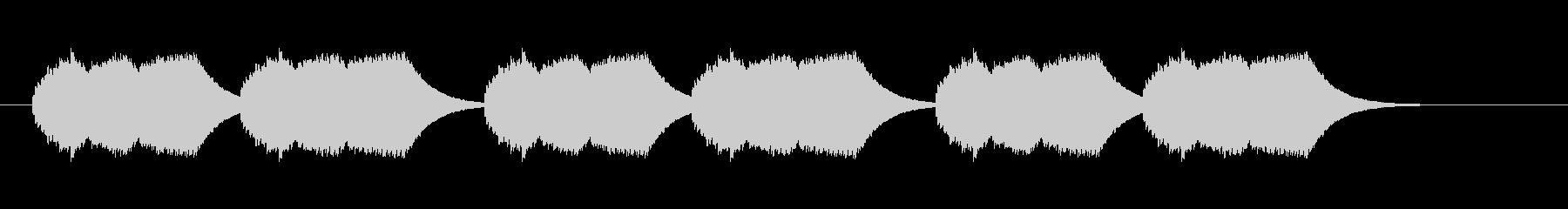 実用的な着信音の未再生の波形