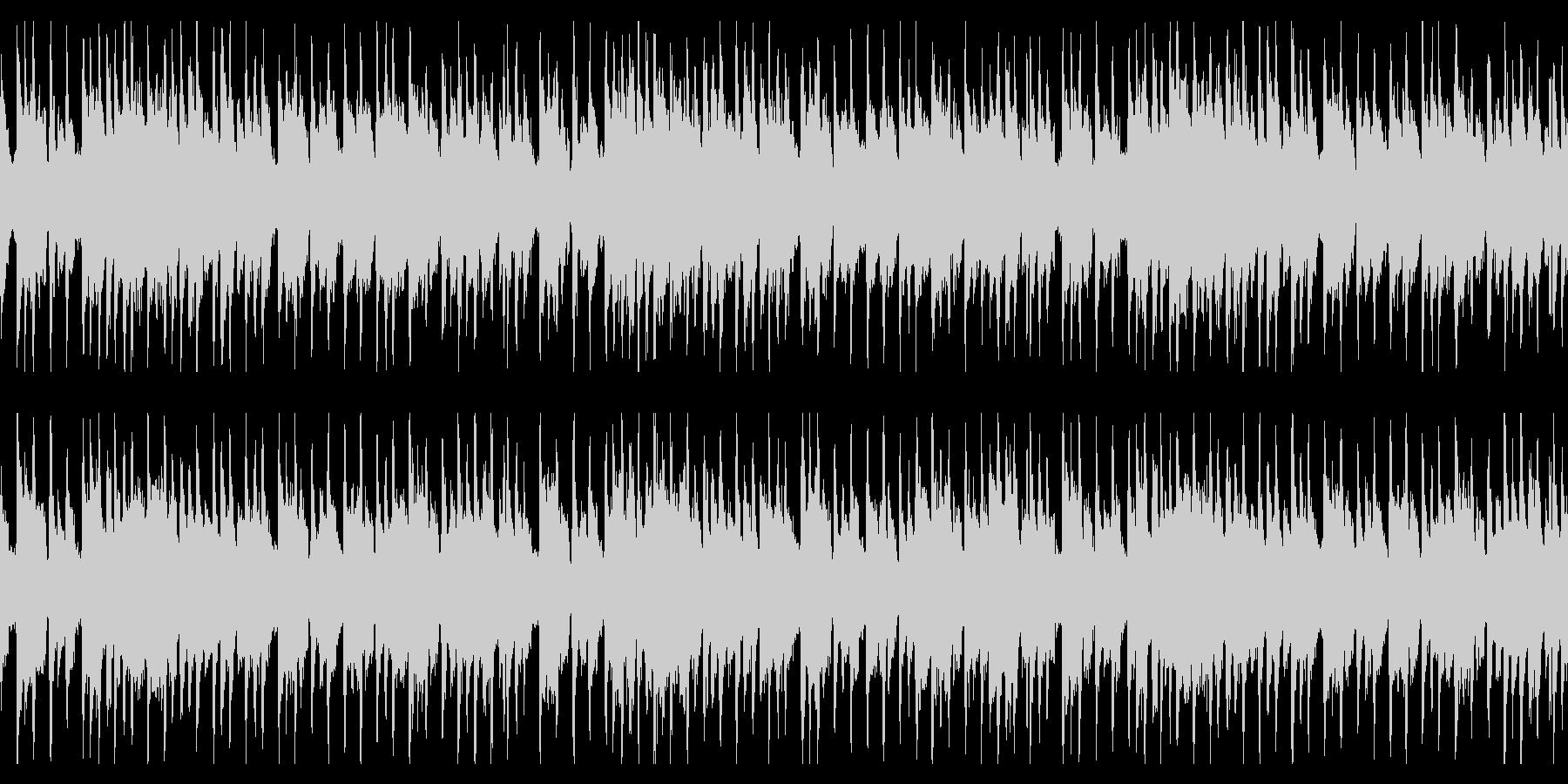 切ないピアノのリフ(ループ)の未再生の波形