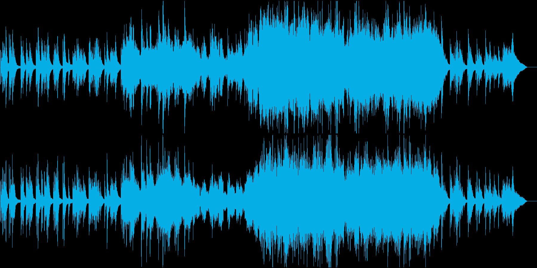 ちょっと感動的な印象になるバラード曲の再生済みの波形