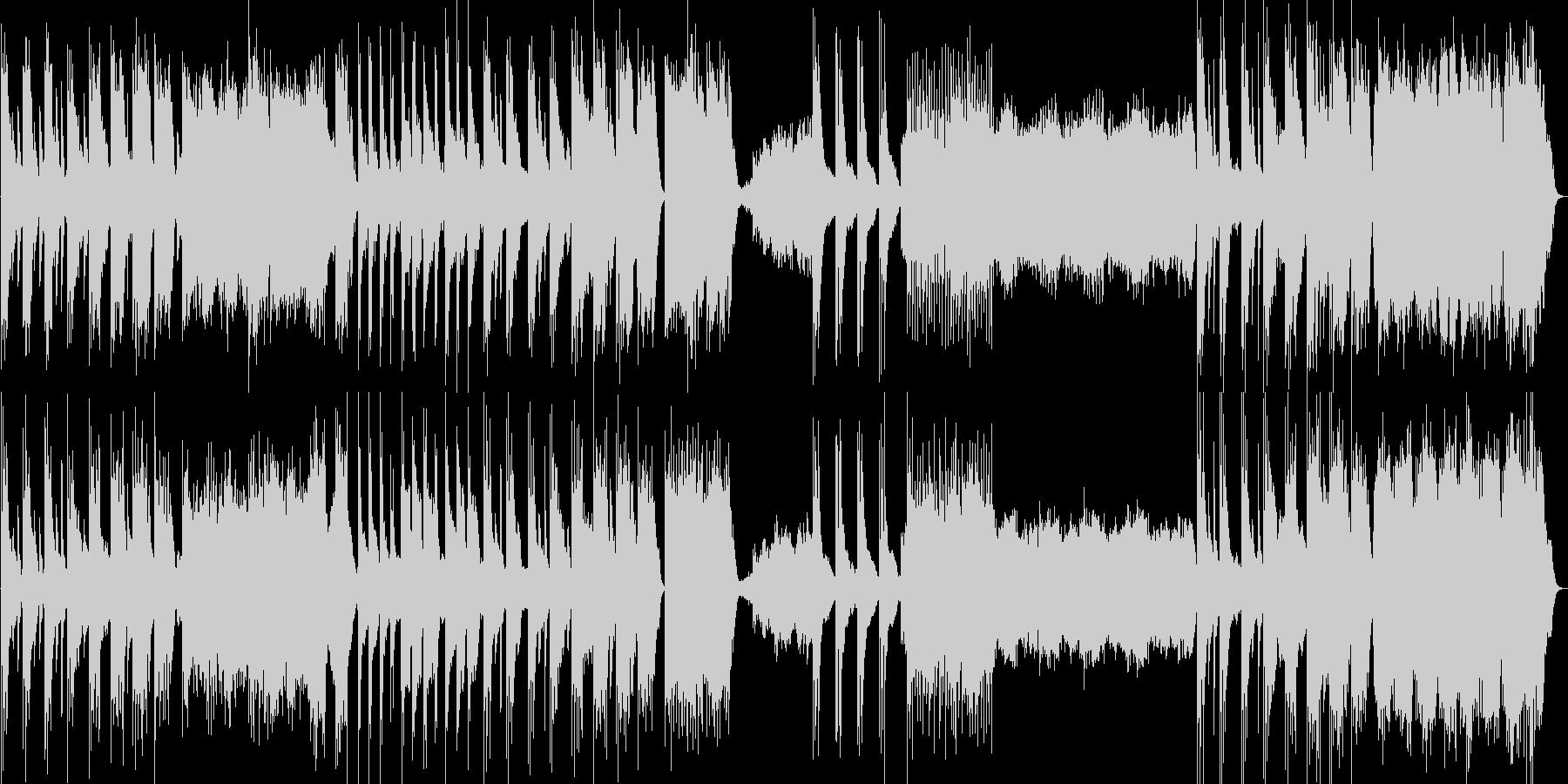 ゆったりとした神秘的なピアノ曲の未再生の波形