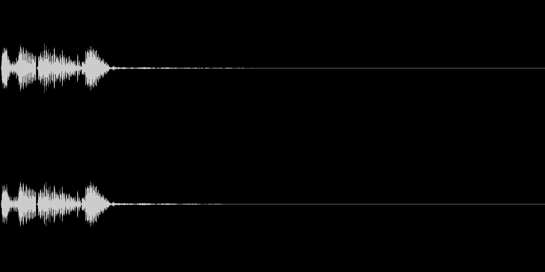 ポカッ_便利系アプリのタッチ音の未再生の波形