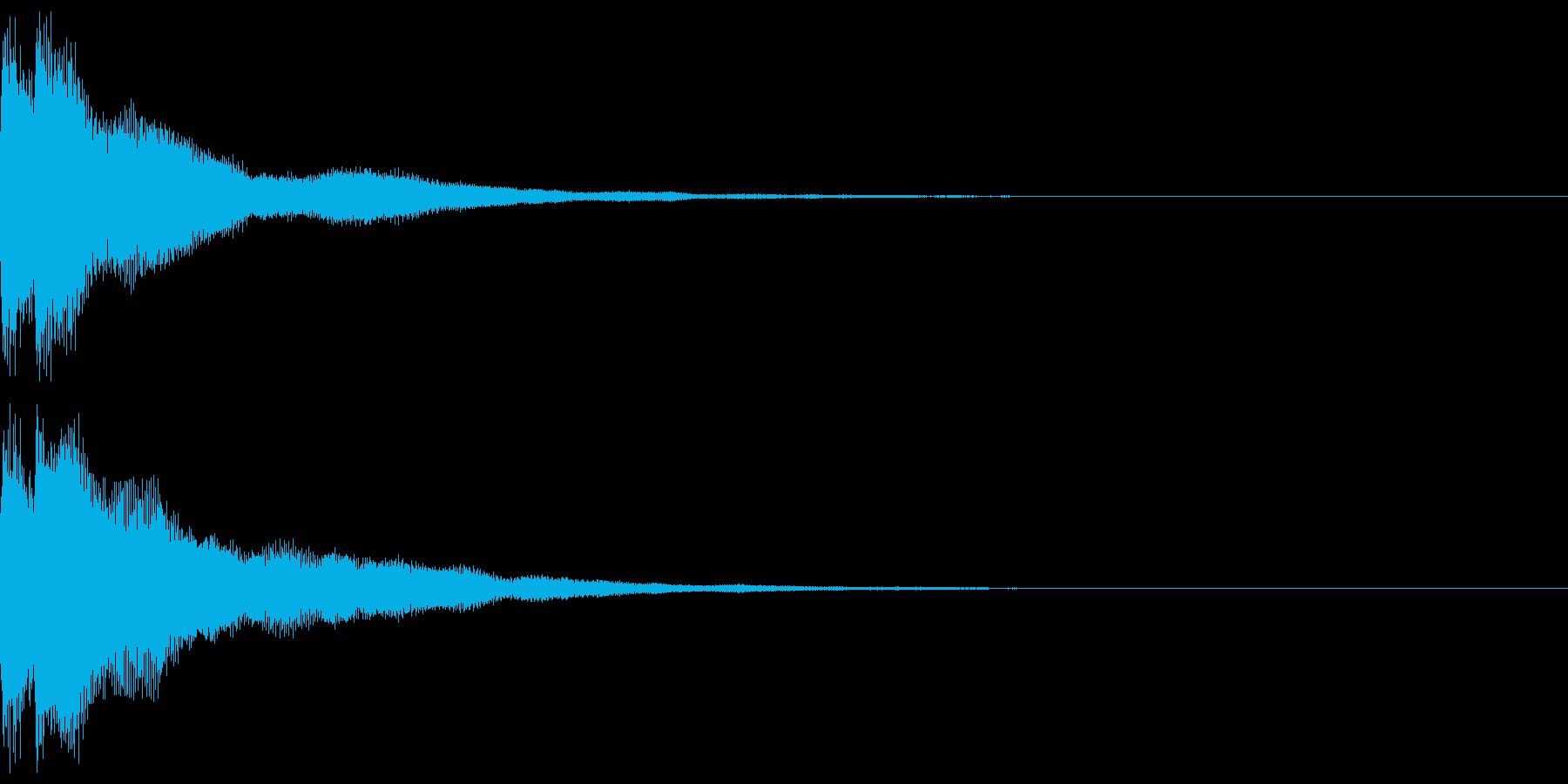 キラン!なアタック音1の再生済みの波形