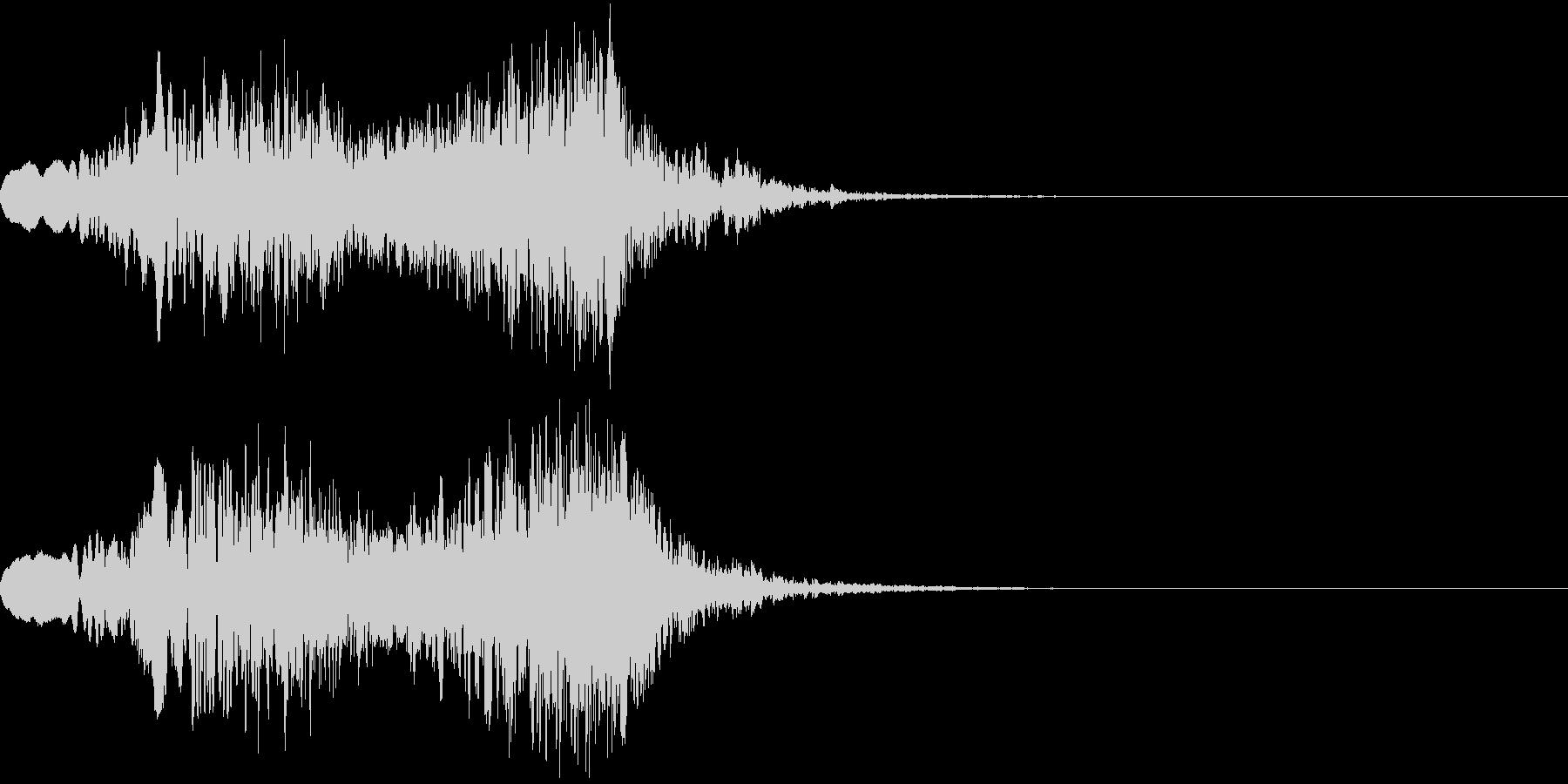 ピューン!2 上昇音 リバーブの未再生の波形