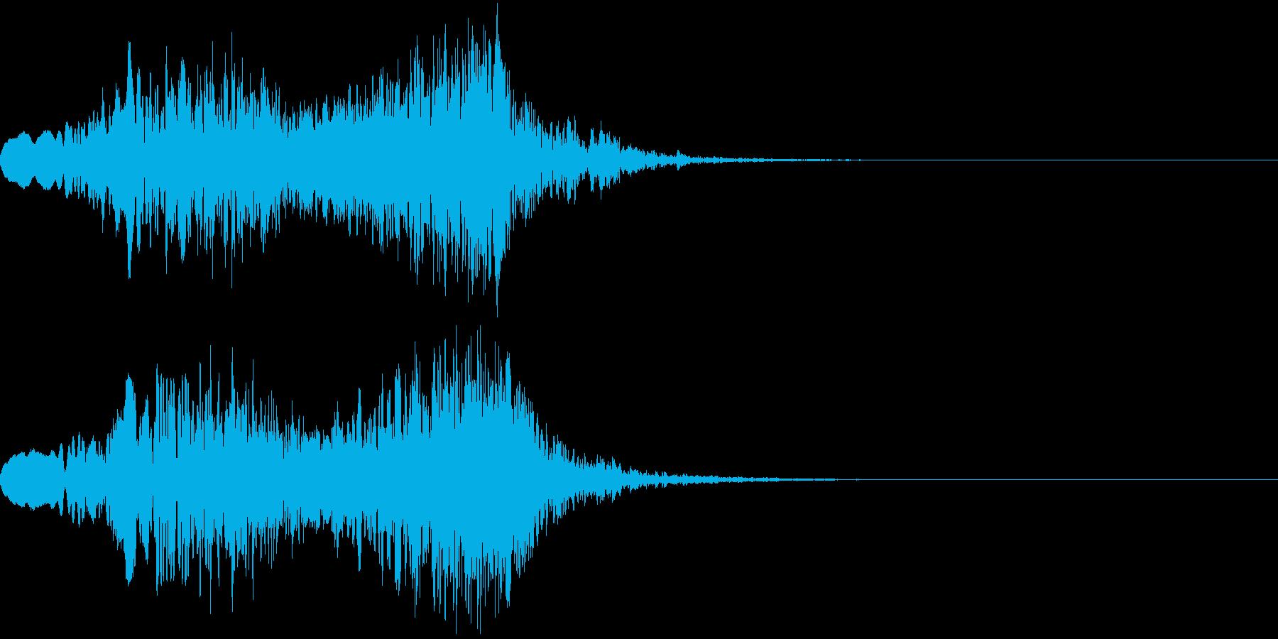 ピューン!2 上昇音 リバーブの再生済みの波形