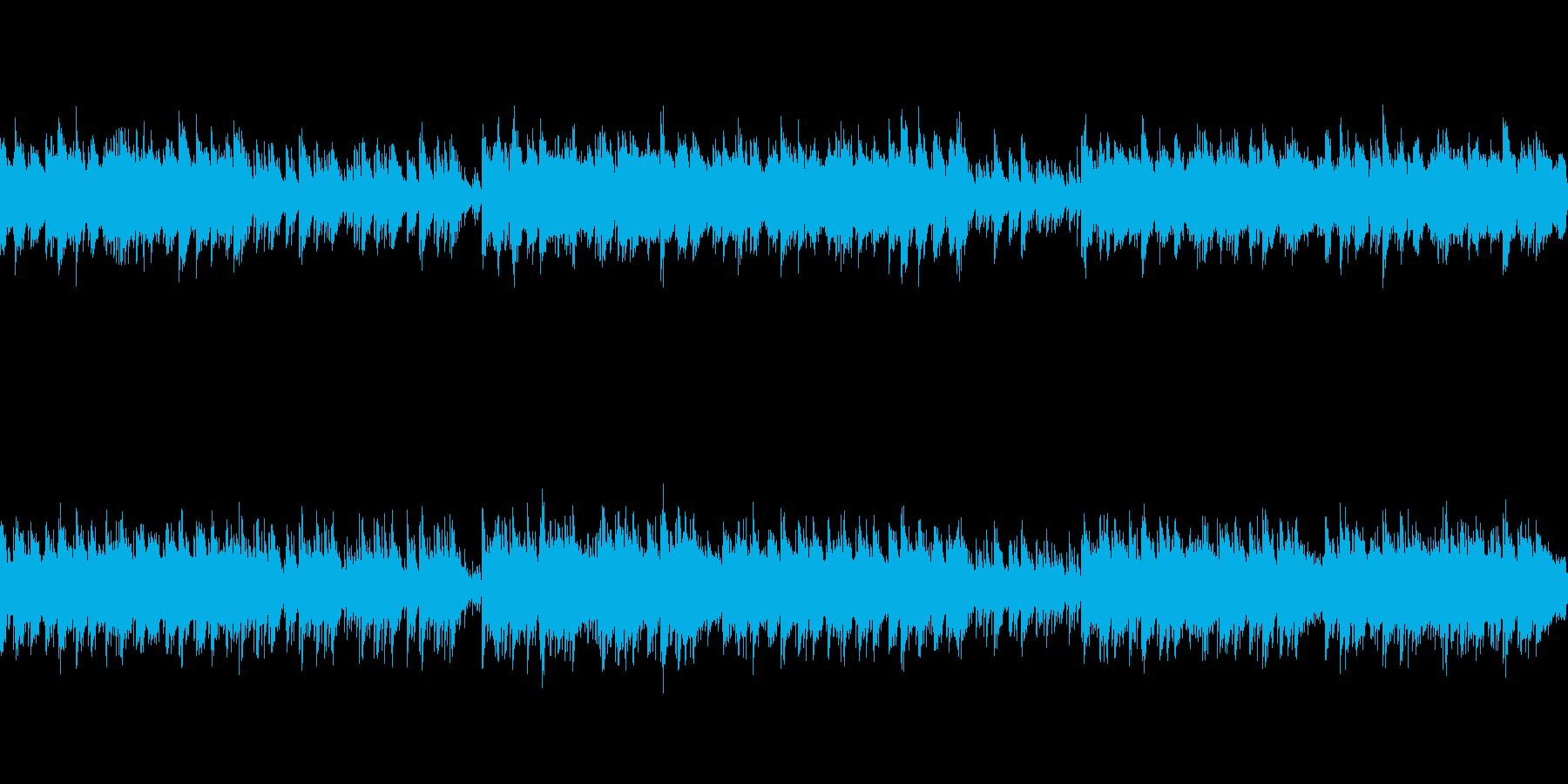 ピアノ主体の穏やかなアンビエントの再生済みの波形
