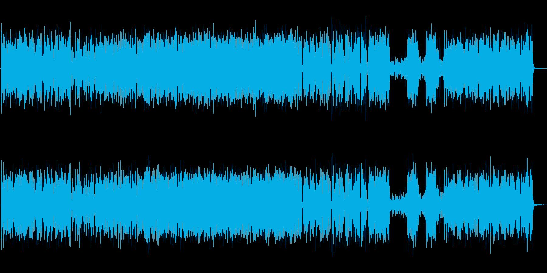 爽やかで軽快なジャズピアノトリオの再生済みの波形
