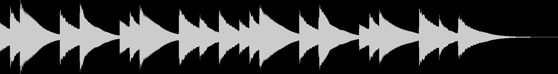 ゆったりとしたオルゴールの未再生の波形