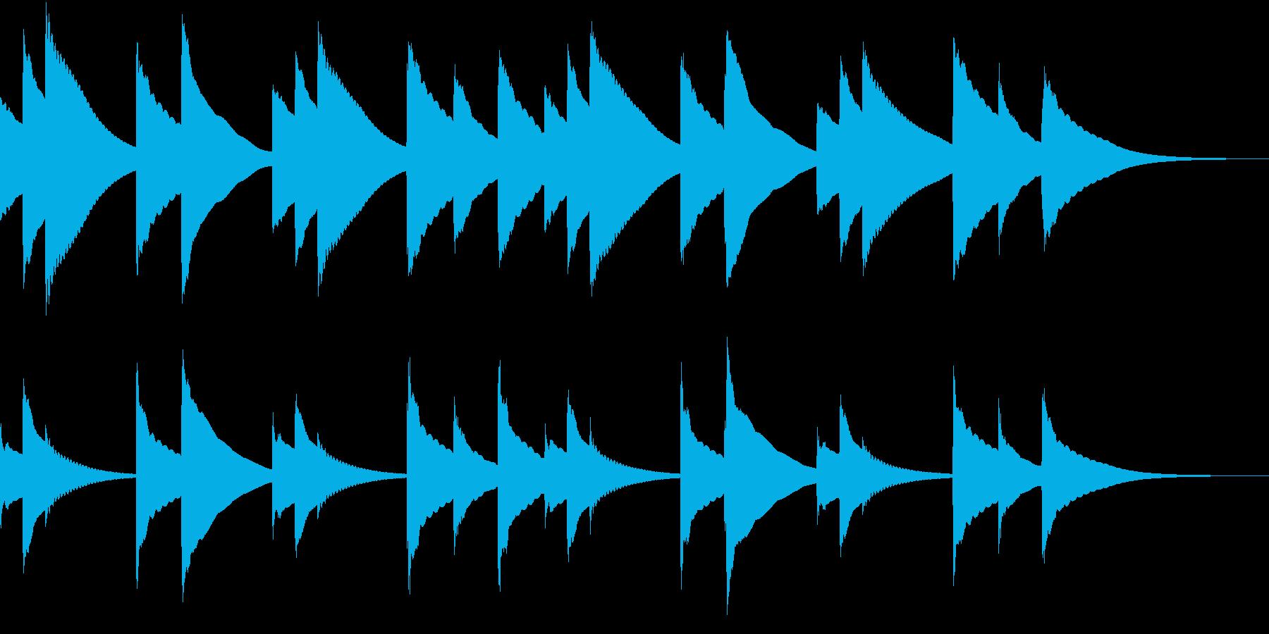 ゆったりとしたオルゴールの再生済みの波形