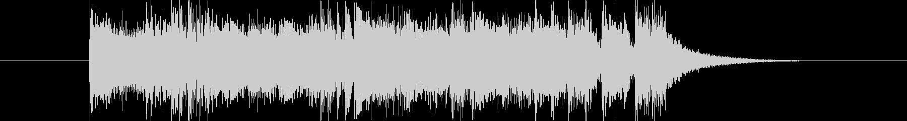 シンセとドラムによる短いジングルの未再生の波形