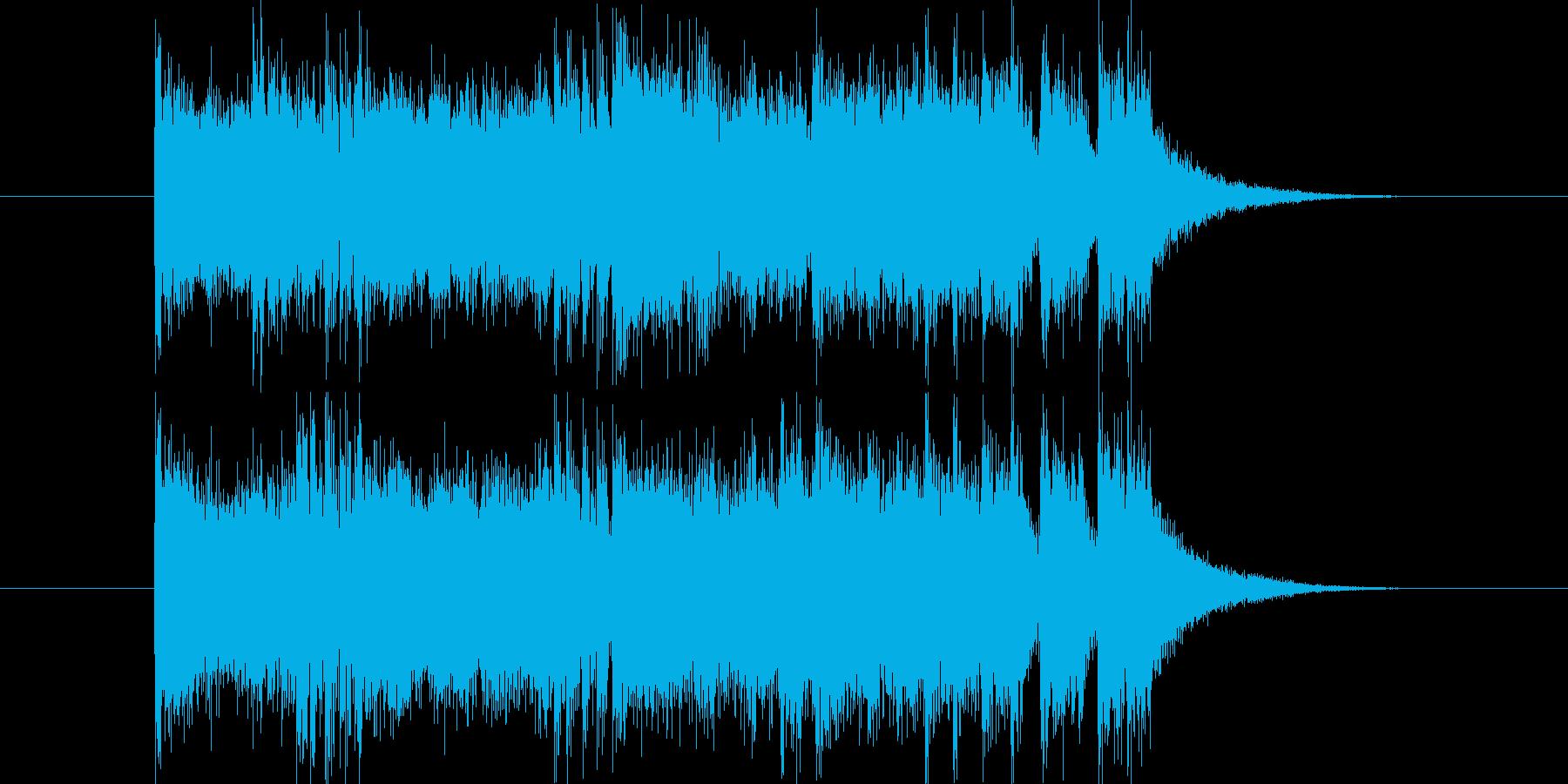 シンセとドラムによる短いジングルの再生済みの波形