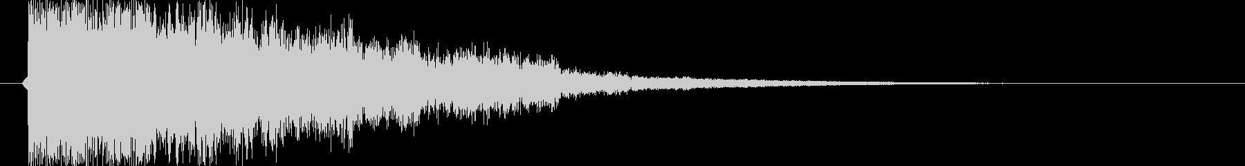 ガキーン 派手な金属音1の未再生の波形