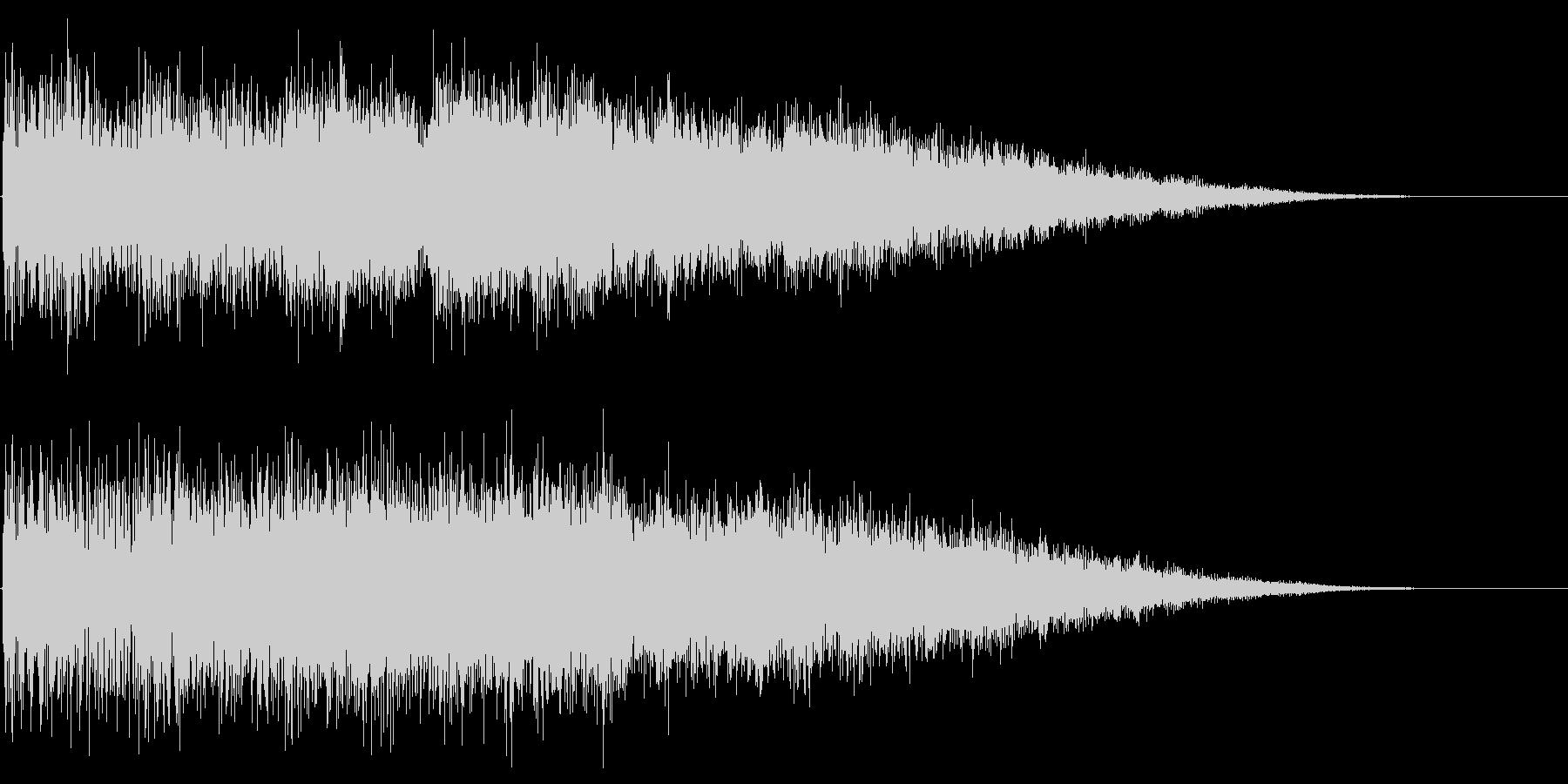 サウンドロゴ、ジングル(力強いシンセ音)の未再生の波形