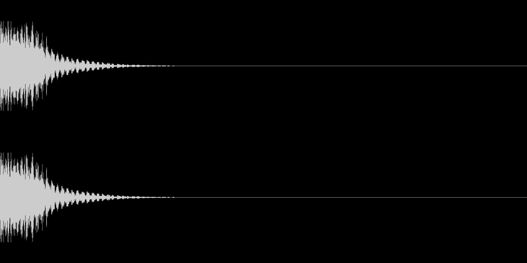 ダメージ音2の未再生の波形