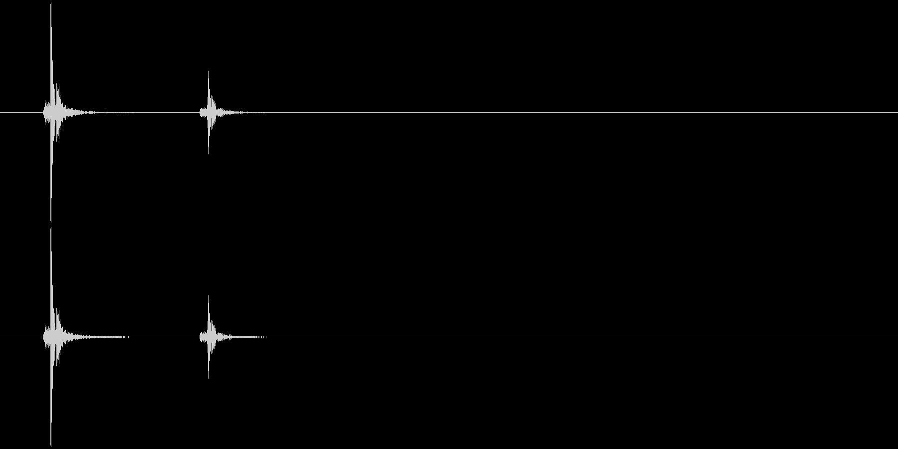 メカニカルキーボード音/青系/A-1の未再生の波形