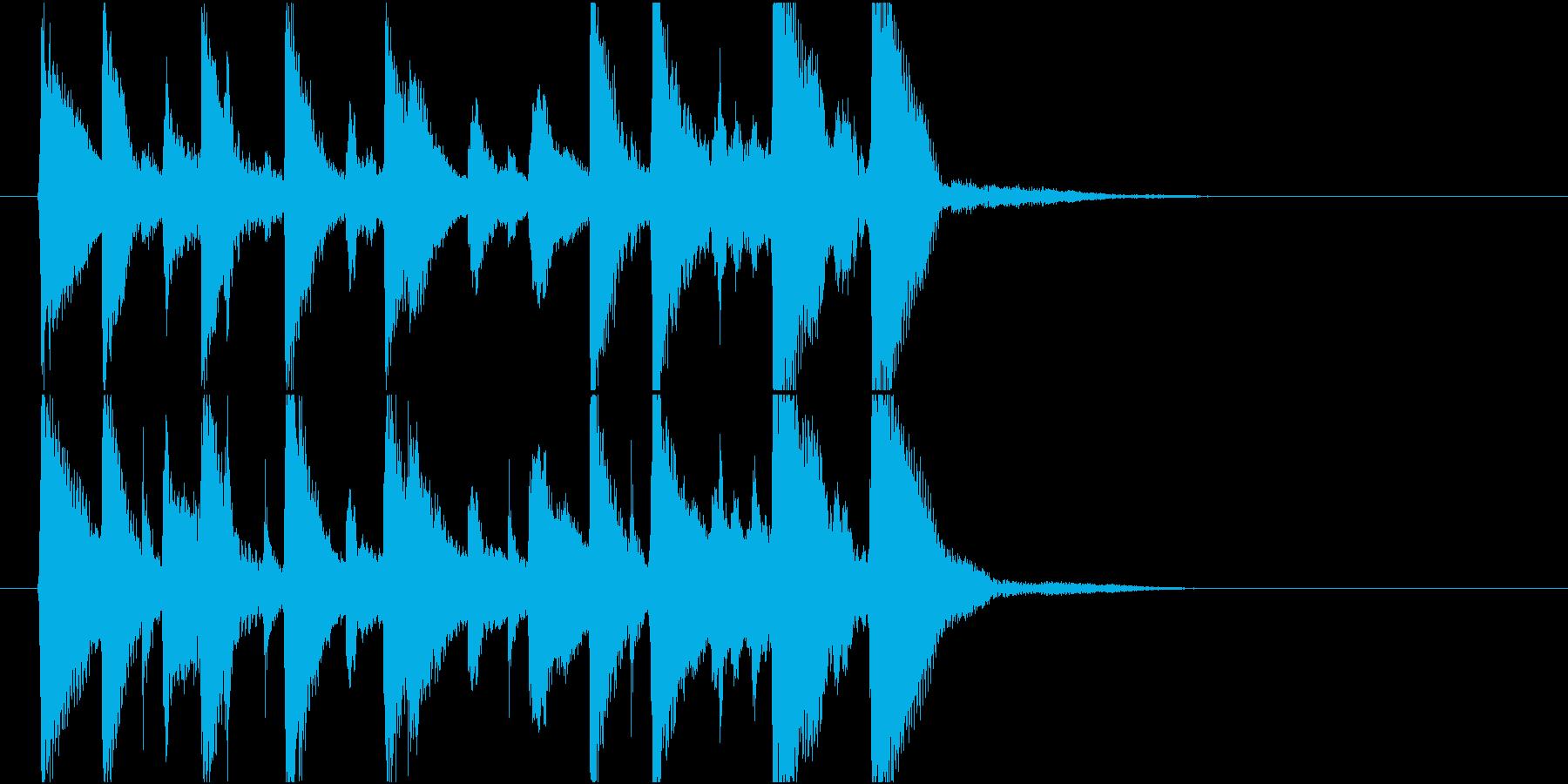 いたずらっぽく楽しいミディアムスイング2の再生済みの波形