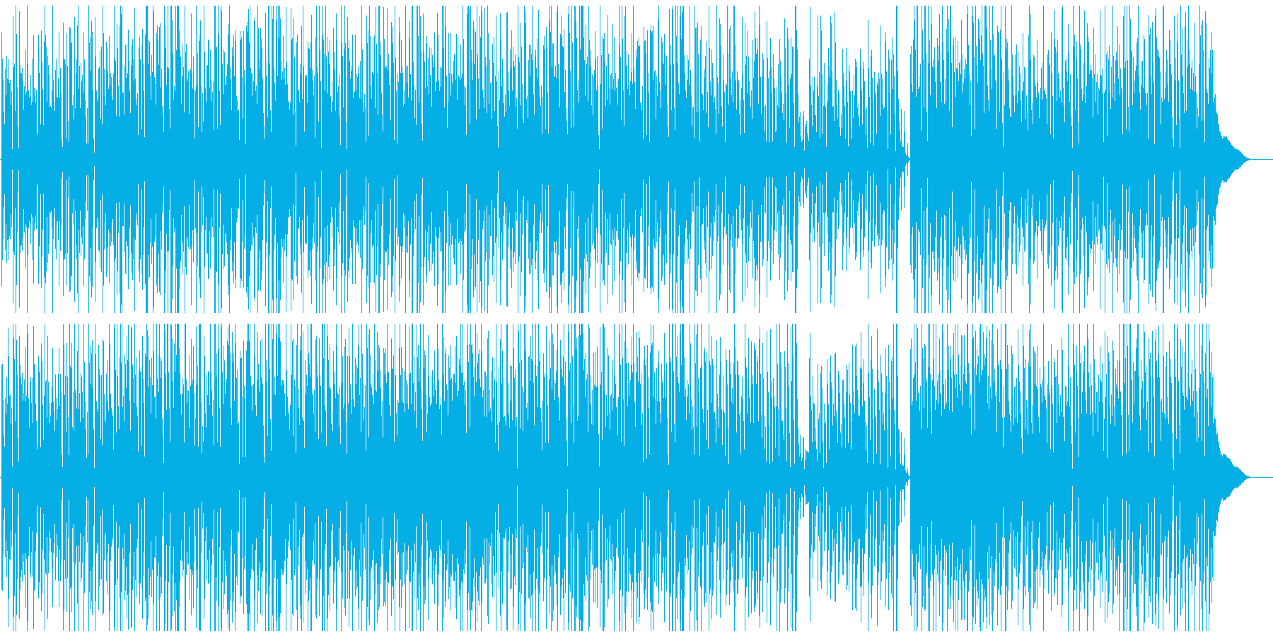 CMや映像にギター 少しブルーな日の再生済みの波形