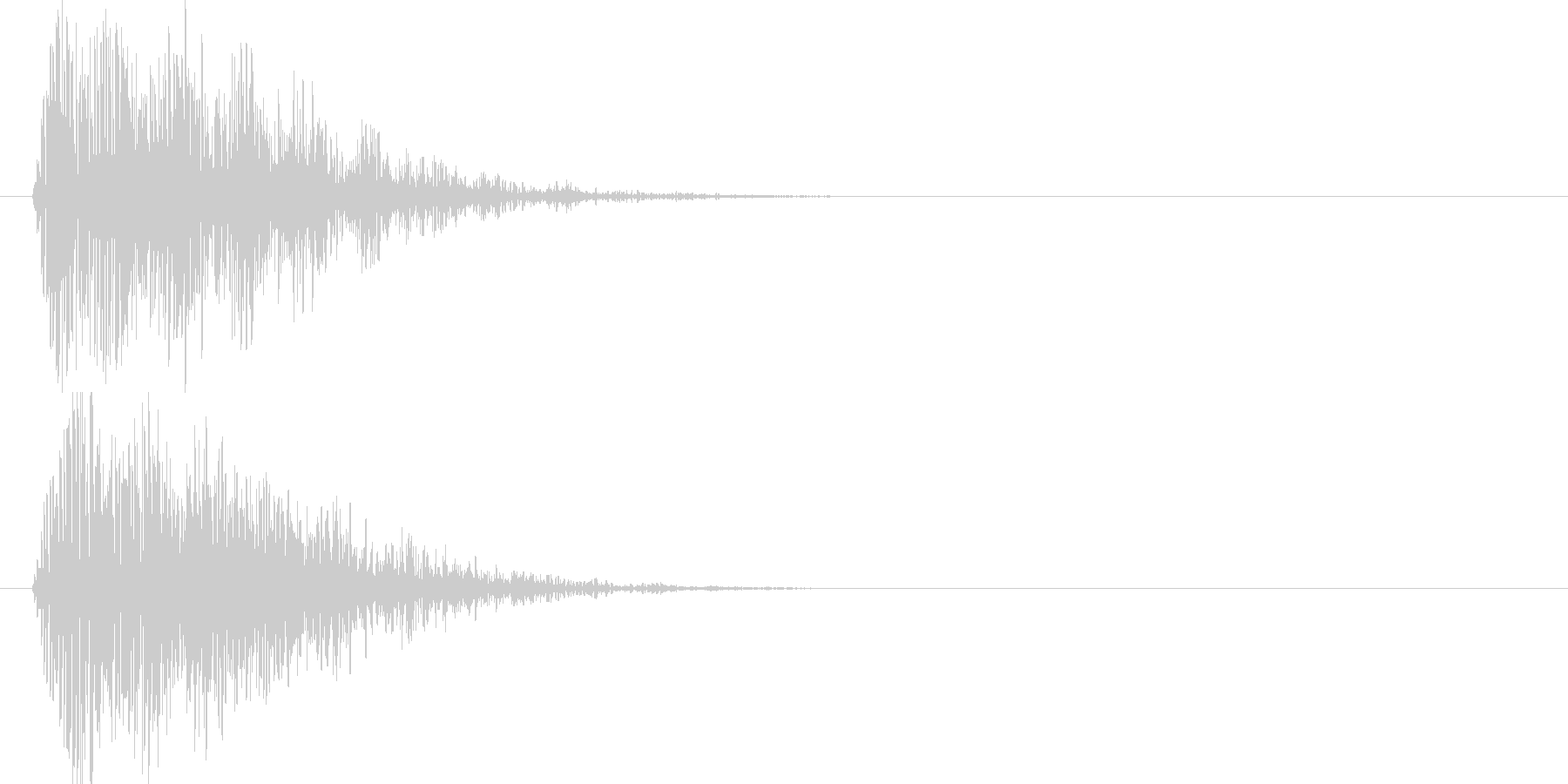 ドゥォーン(地響き)の未再生の波形