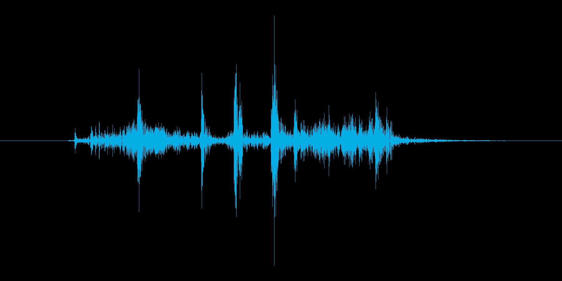 一眼レフカメラのシャッター音(カシャ)の再生済みの波形