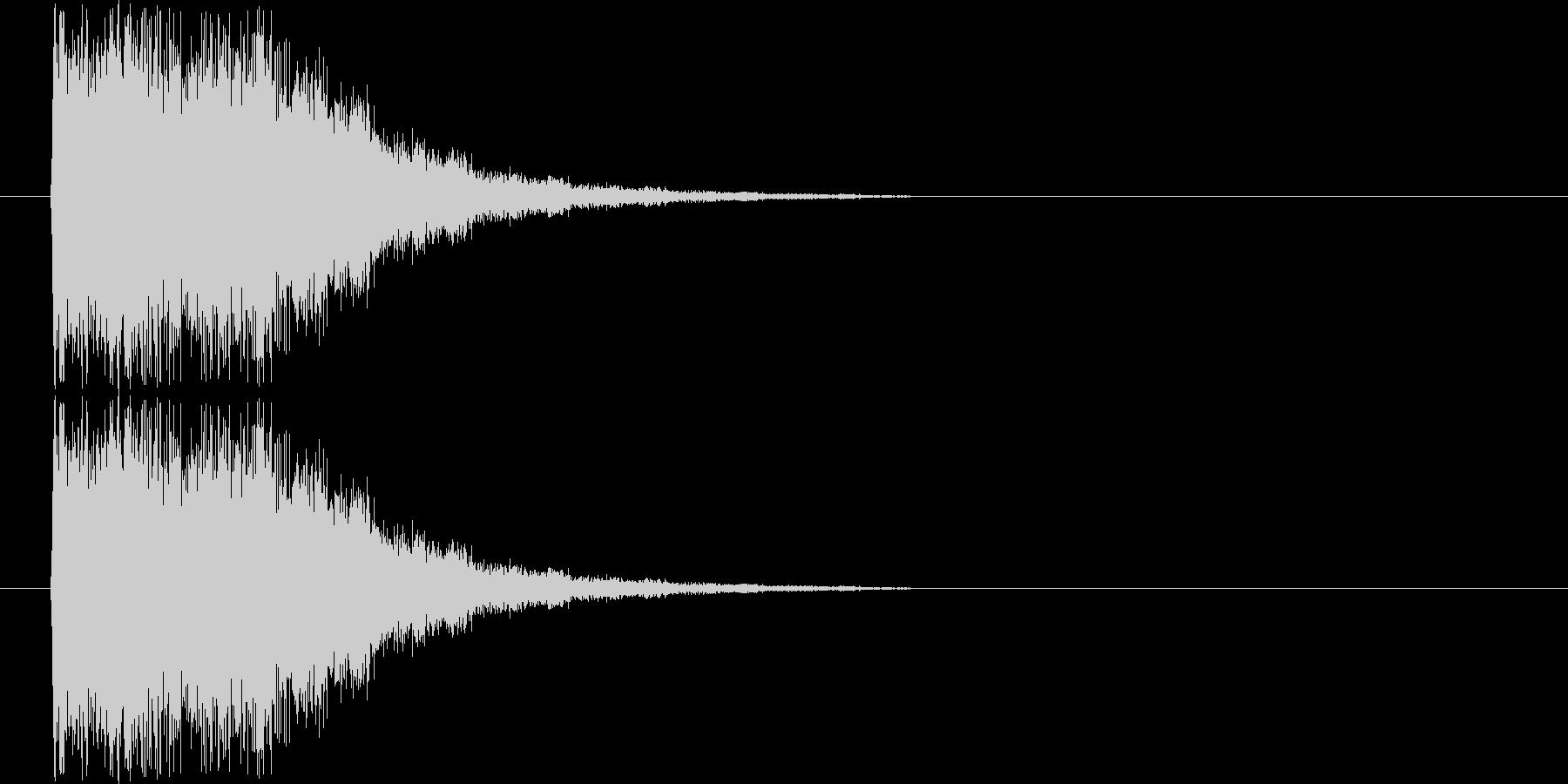 光系インパクトの未再生の波形