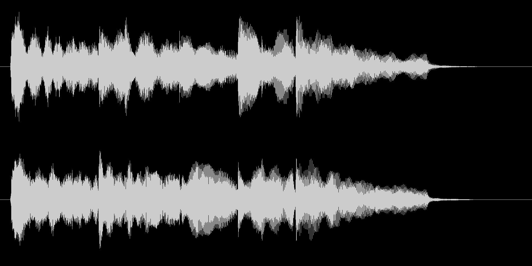 ゲームオーバーのジングル、グロッケン音の未再生の波形