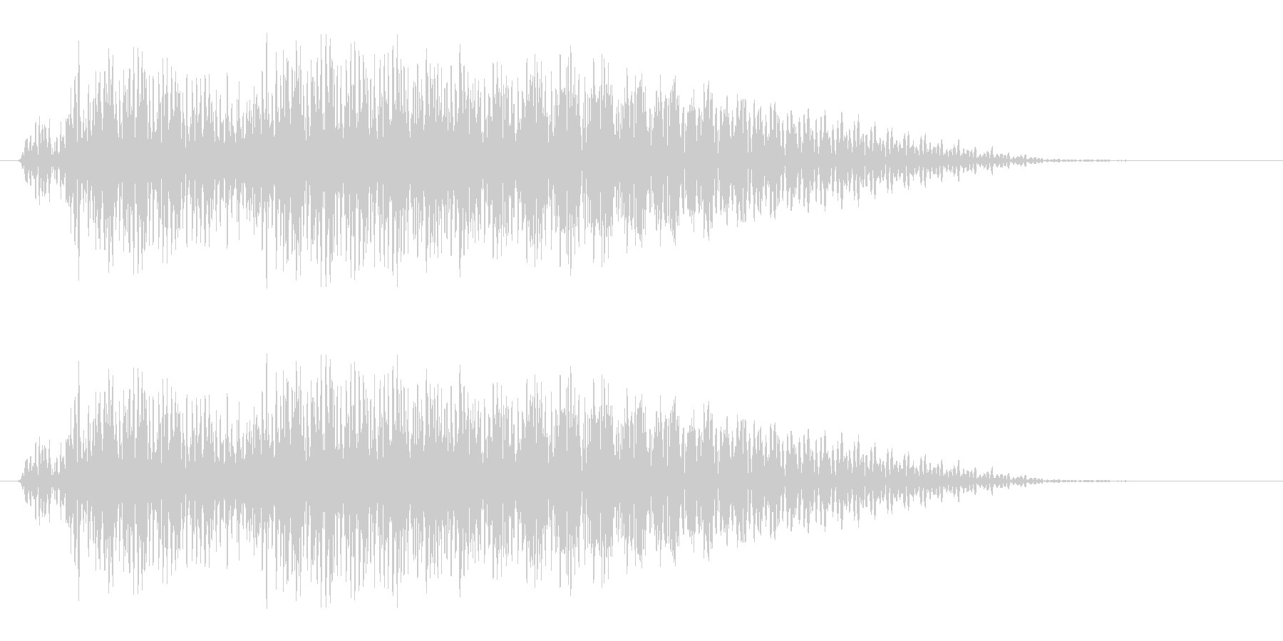 ジャジャン(注目を集めるようなギター)の未再生の波形
