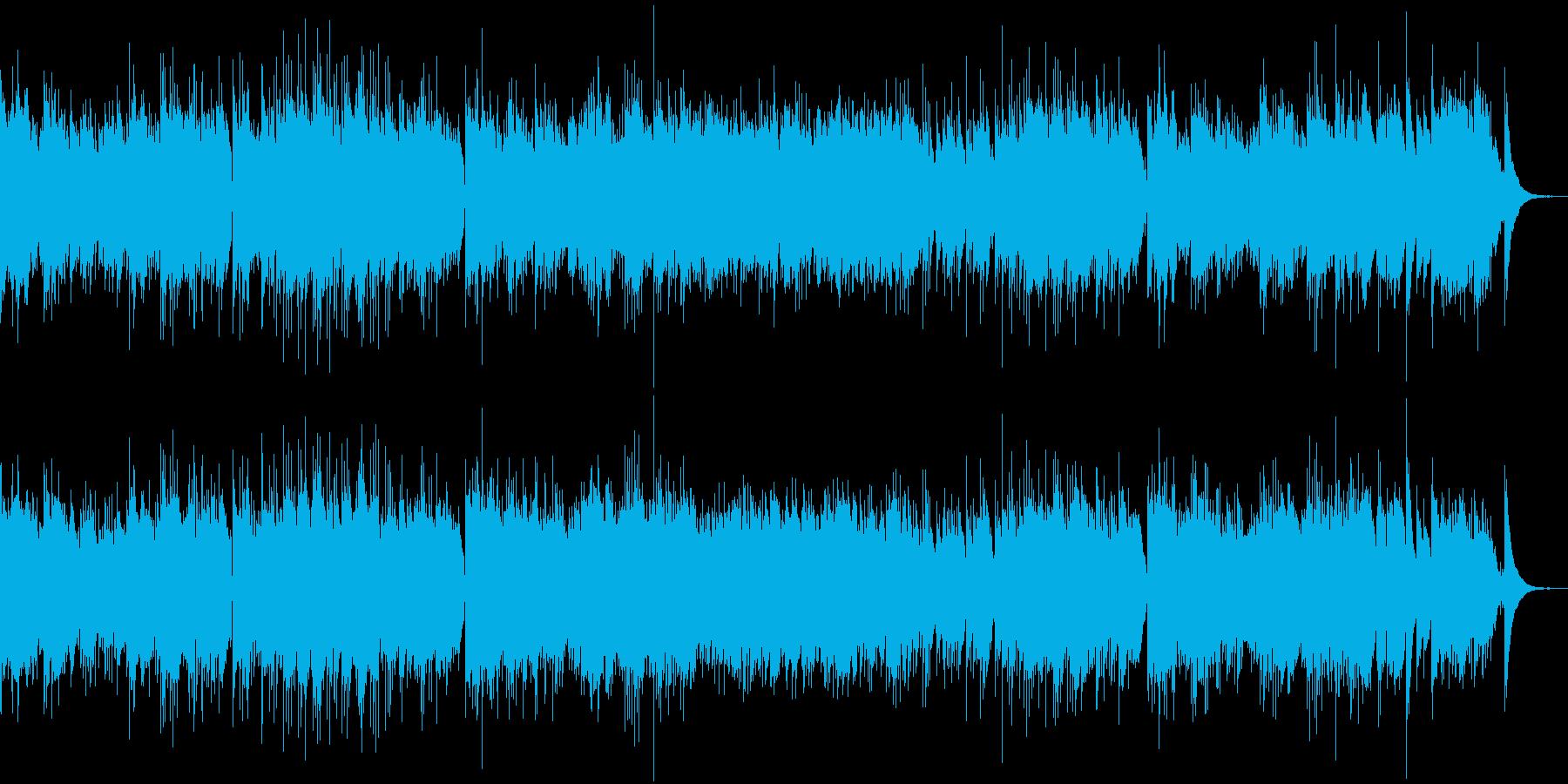 アコースティックギターの音色が優しい曲の再生済みの波形