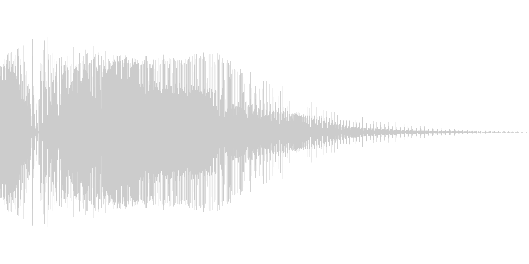 ズビシューン(ビームライフル風の射撃音)の未再生の波形