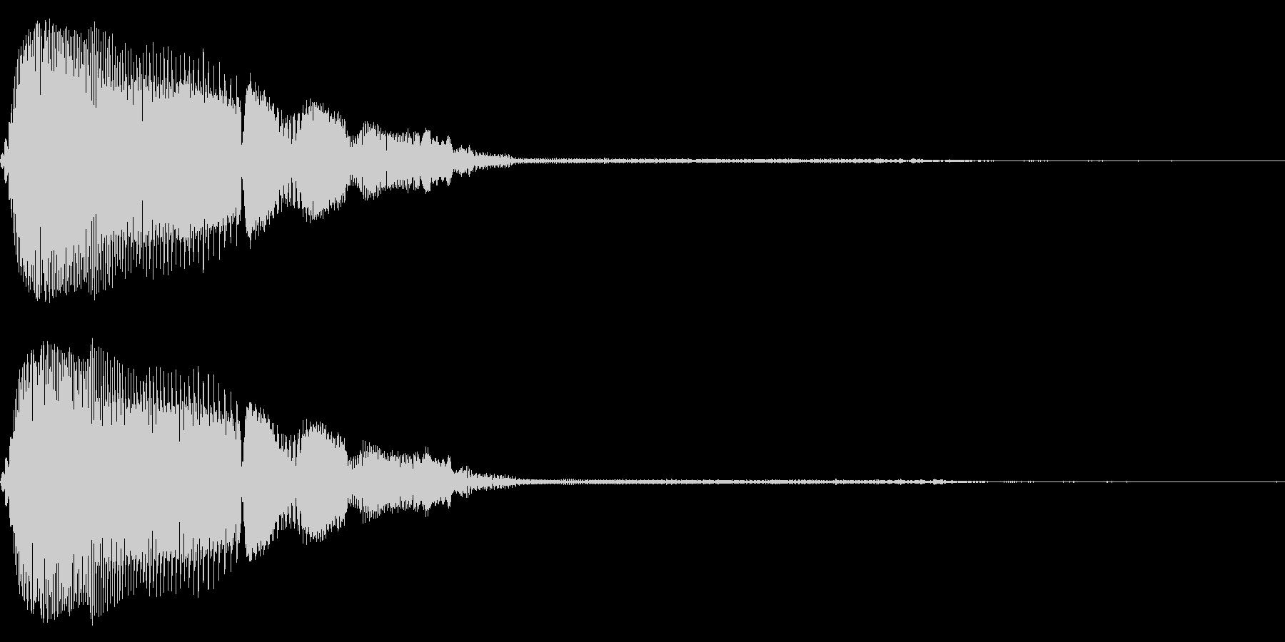 汎用的なシステム音(ステレオバージョン)の未再生の波形