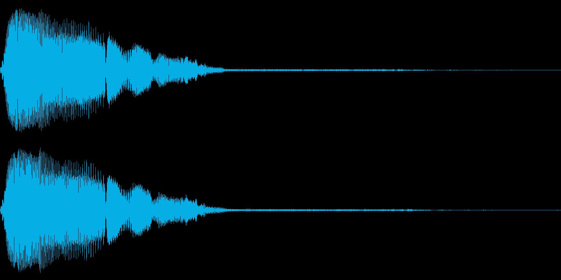 汎用的なシステム音(ステレオバージョン)の再生済みの波形