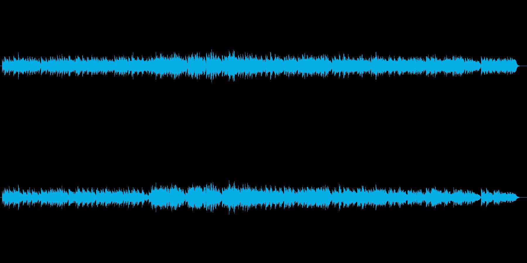 雄大なピアノバラード(オーケストラ風)の再生済みの波形