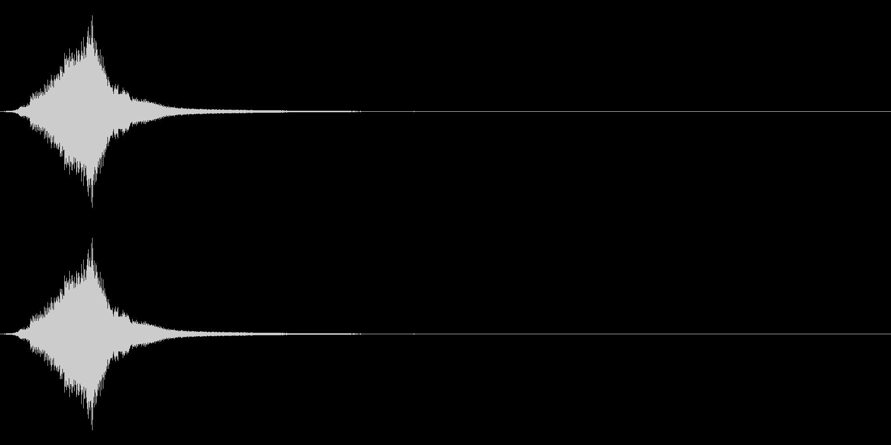 シャキーン☆剣を鞘から抜く音の未再生の波形