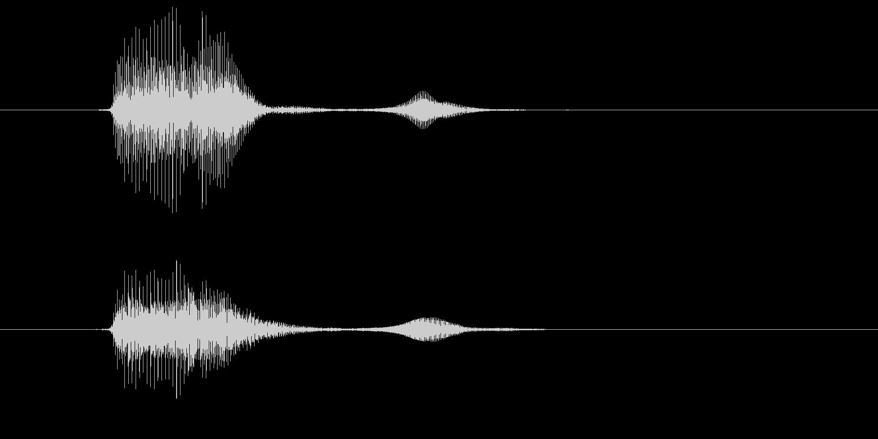 パフ(パフパフラッパの音)の未再生の波形
