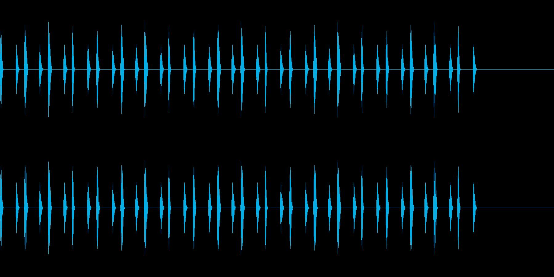心の中の音シリーズ 心臓の再生済みの波形