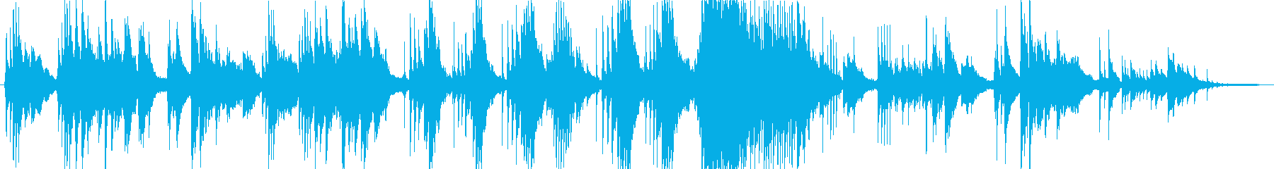 優しい、アンビエントな曲の再生済みの波形