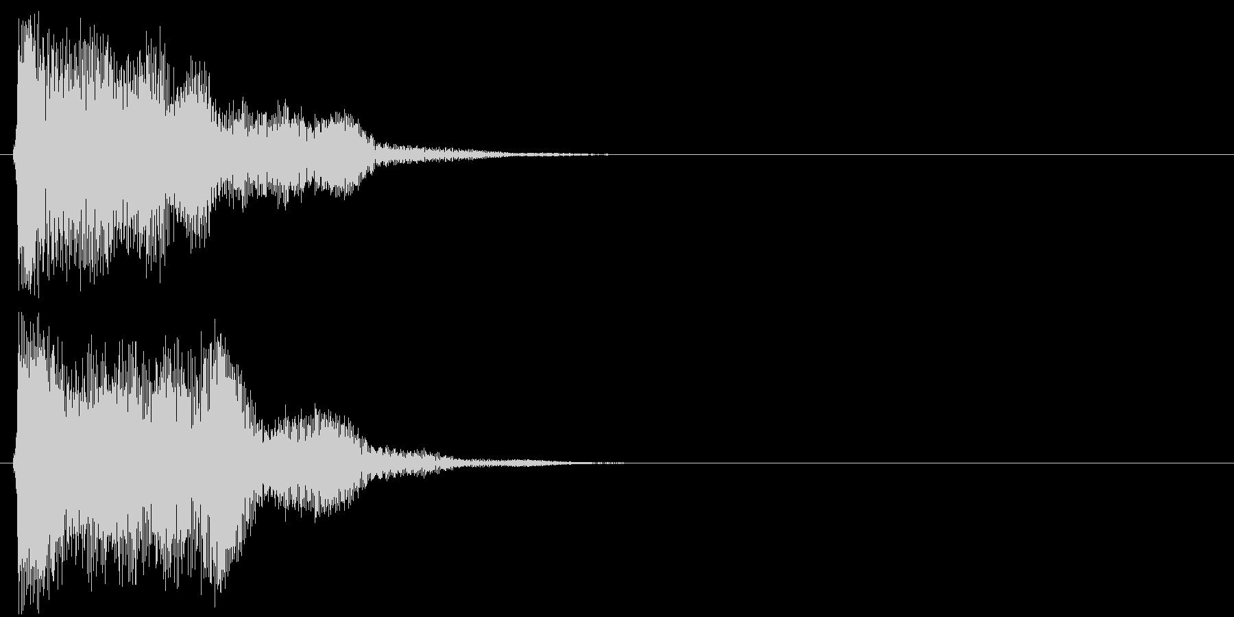 汎用 近未来系09(長) タッチ音の未再生の波形