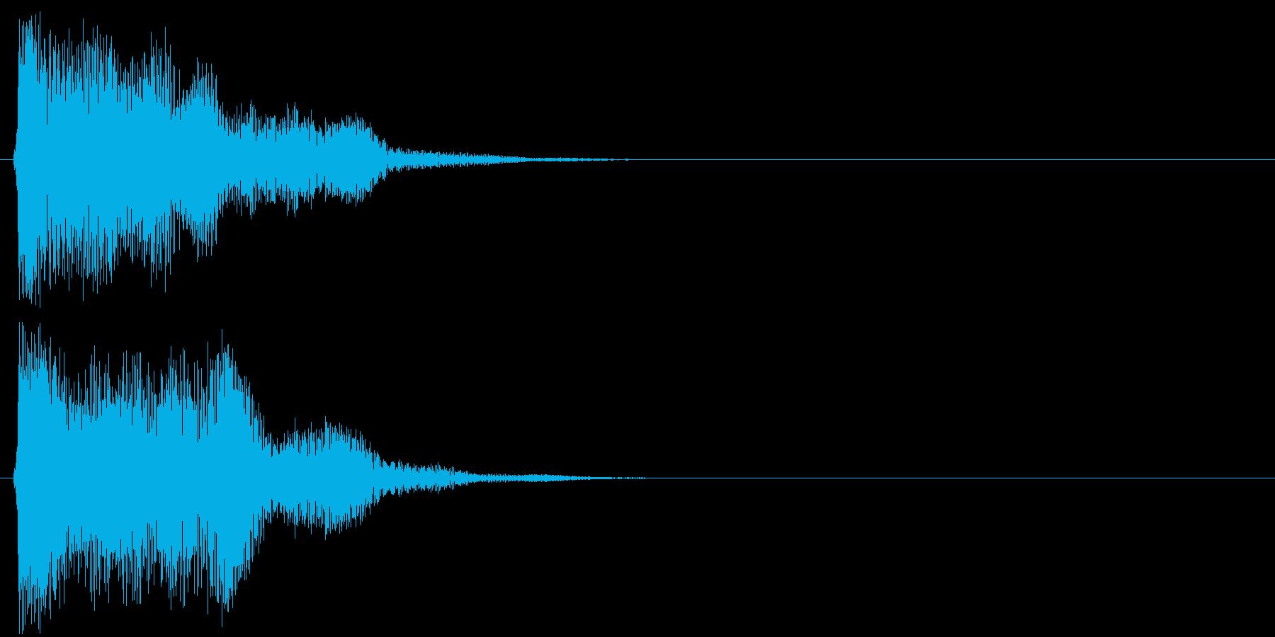 汎用 近未来系09(長) タッチ音の再生済みの波形