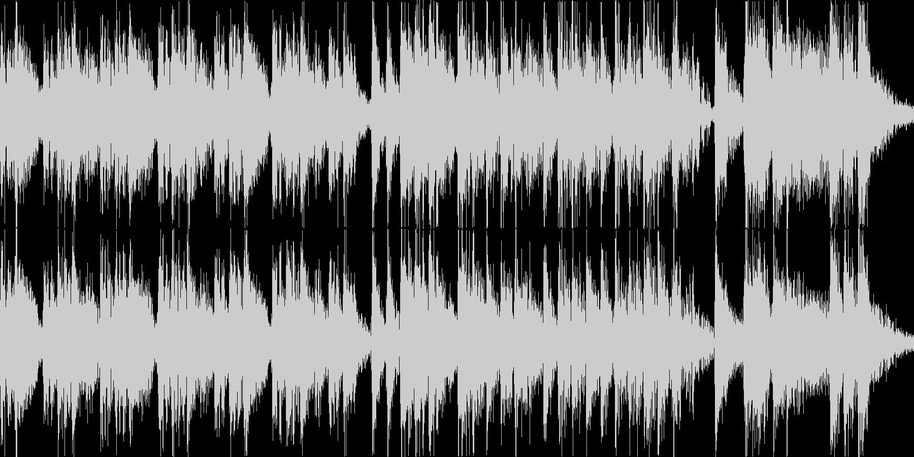 やや中華風なジングルです。の未再生の波形
