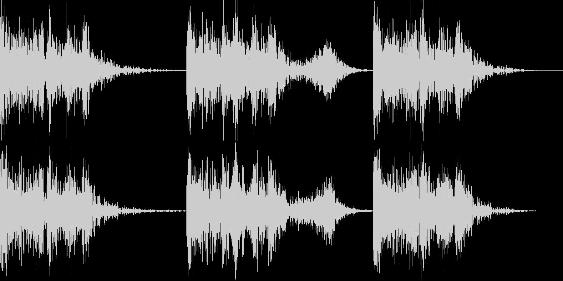 ファイトを感じるBGMの未再生の波形