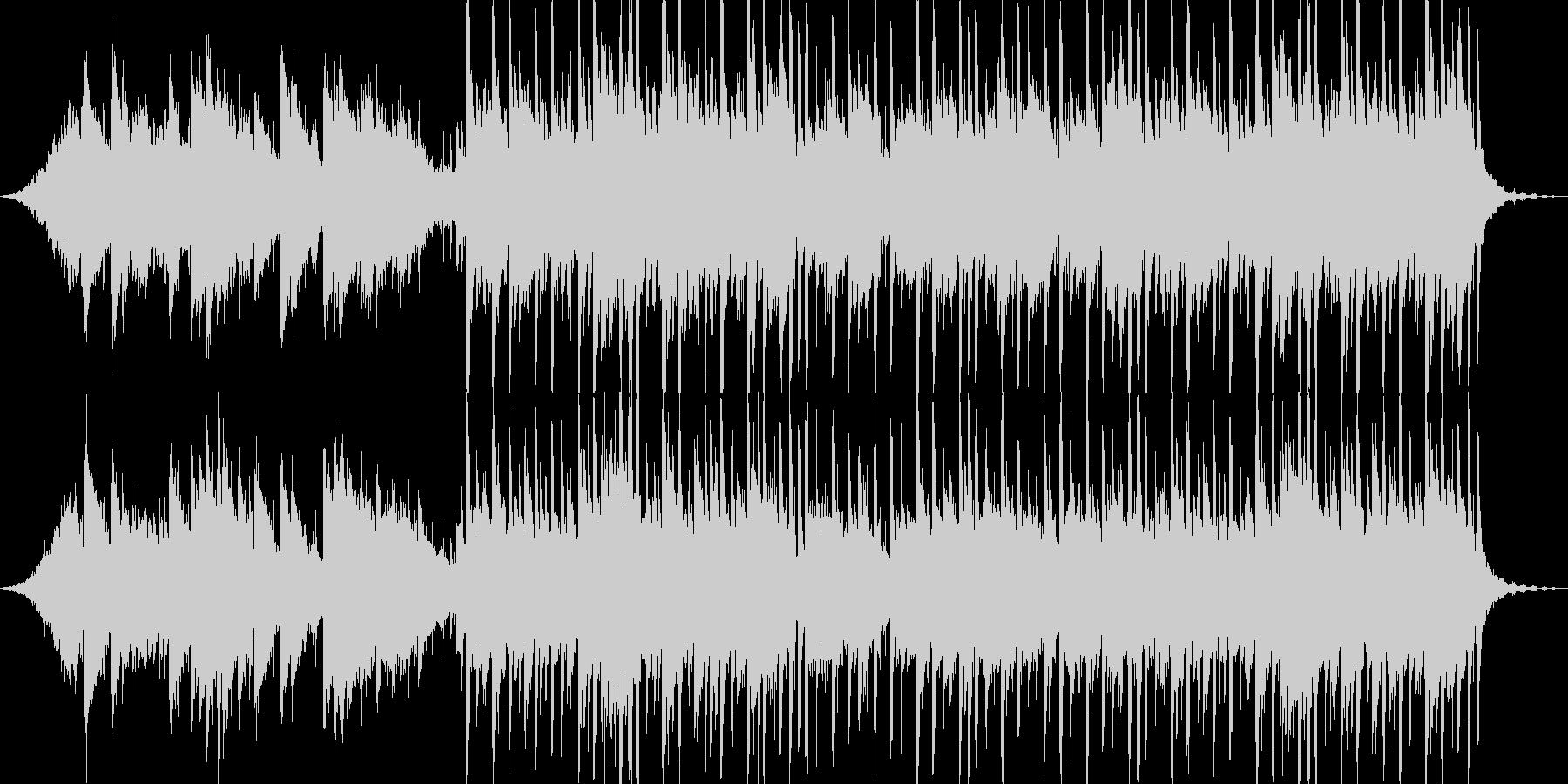 近未来的で切ないピアノエンディングの未再生の波形