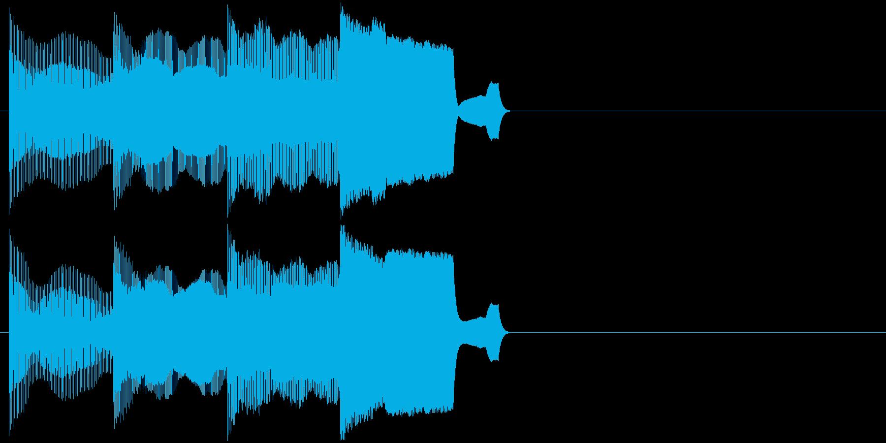 ピコピコ(ちょっとした電子音の効果音)の再生済みの波形