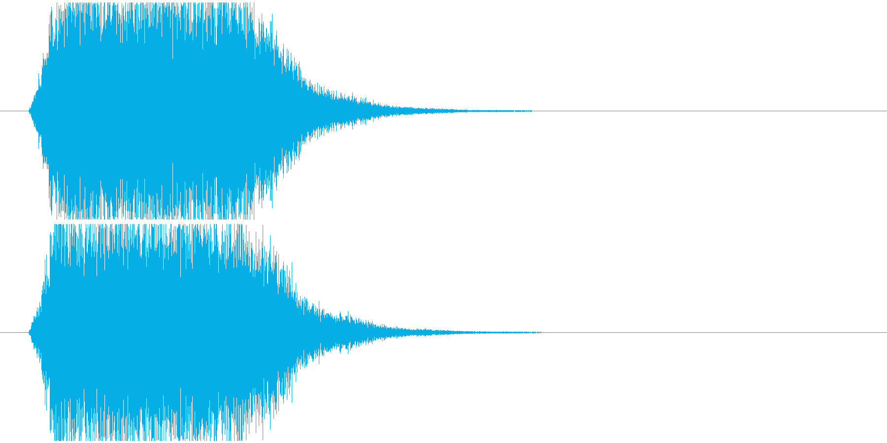 ジャンプ飛翔音の再生済みの波形