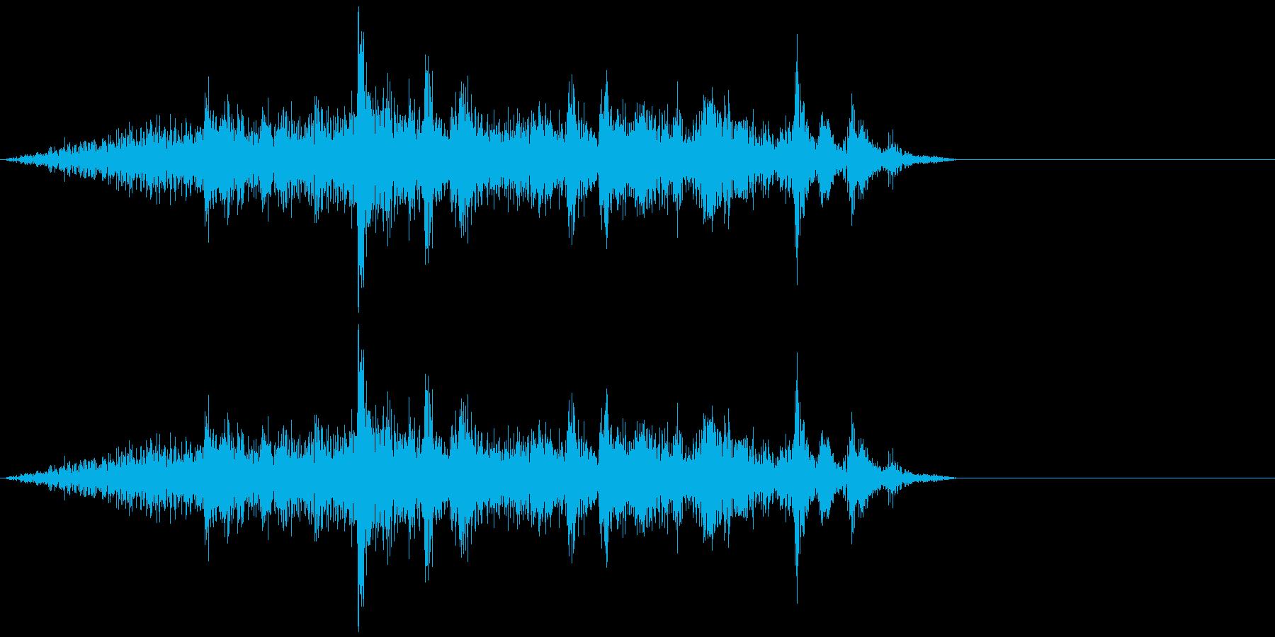 ガヤガヤ、ガチャガチャ 雑多音の再生済みの波形