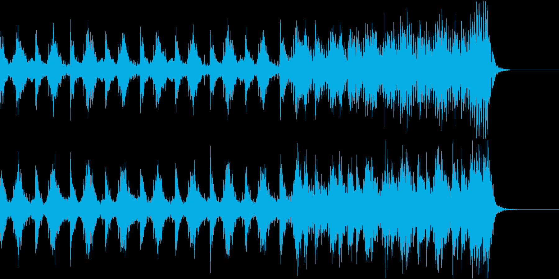 緊張感のあるストリングス系BGMの再生済みの波形