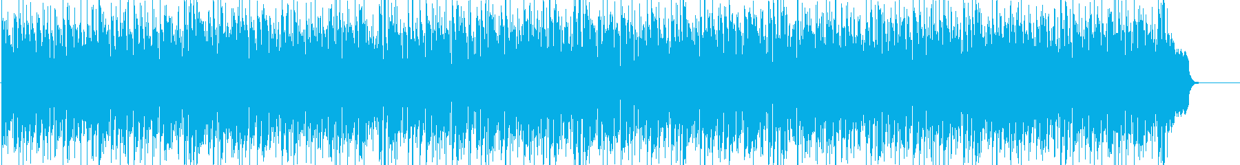 ジャズテイストのボザノバBGMの再生済みの波形