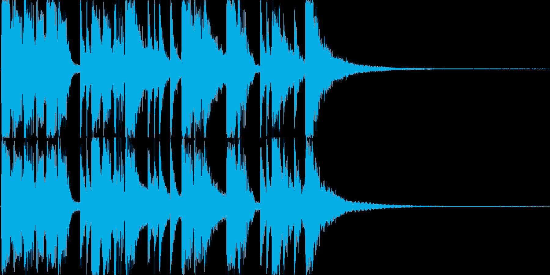 ベースとドラムのジングル・サウンドロゴの再生済みの波形