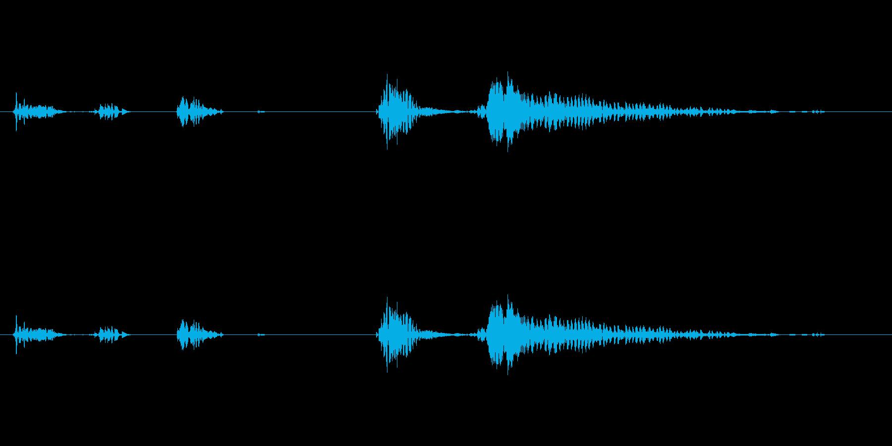 お腹が鳴る01の再生済みの波形