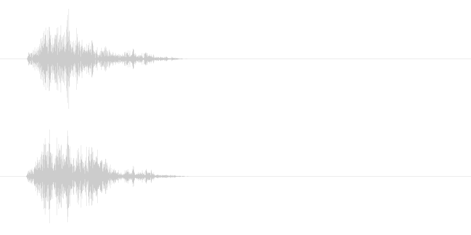 カチャッ(摩擦の音色)の未再生の波形