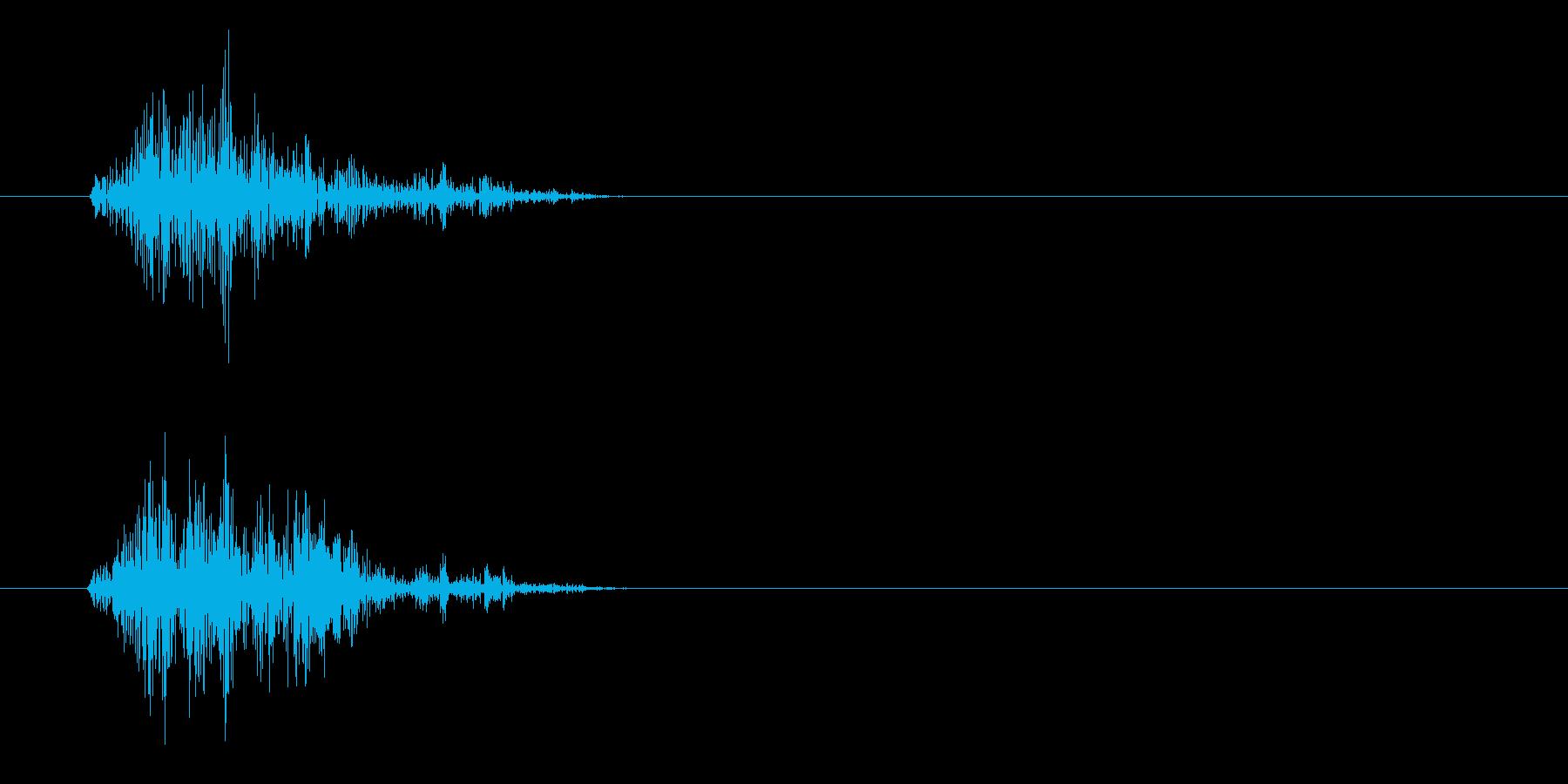 カチャッ(摩擦の音色)の再生済みの波形
