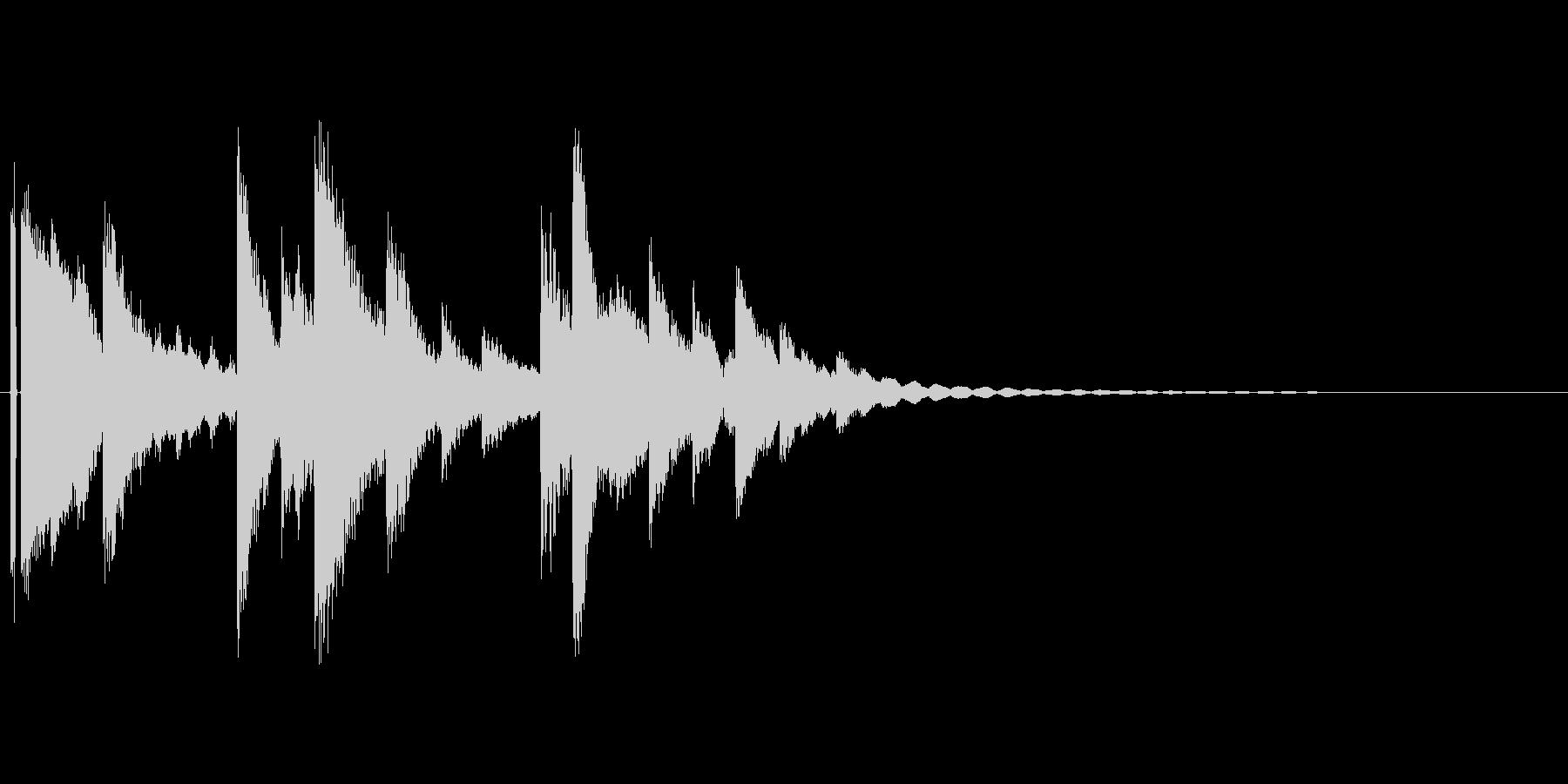 小さなベルの音。の未再生の波形