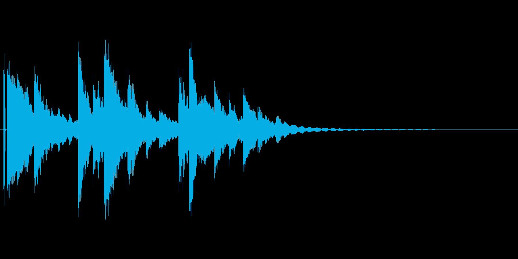 小さなベルの音。の再生済みの波形
